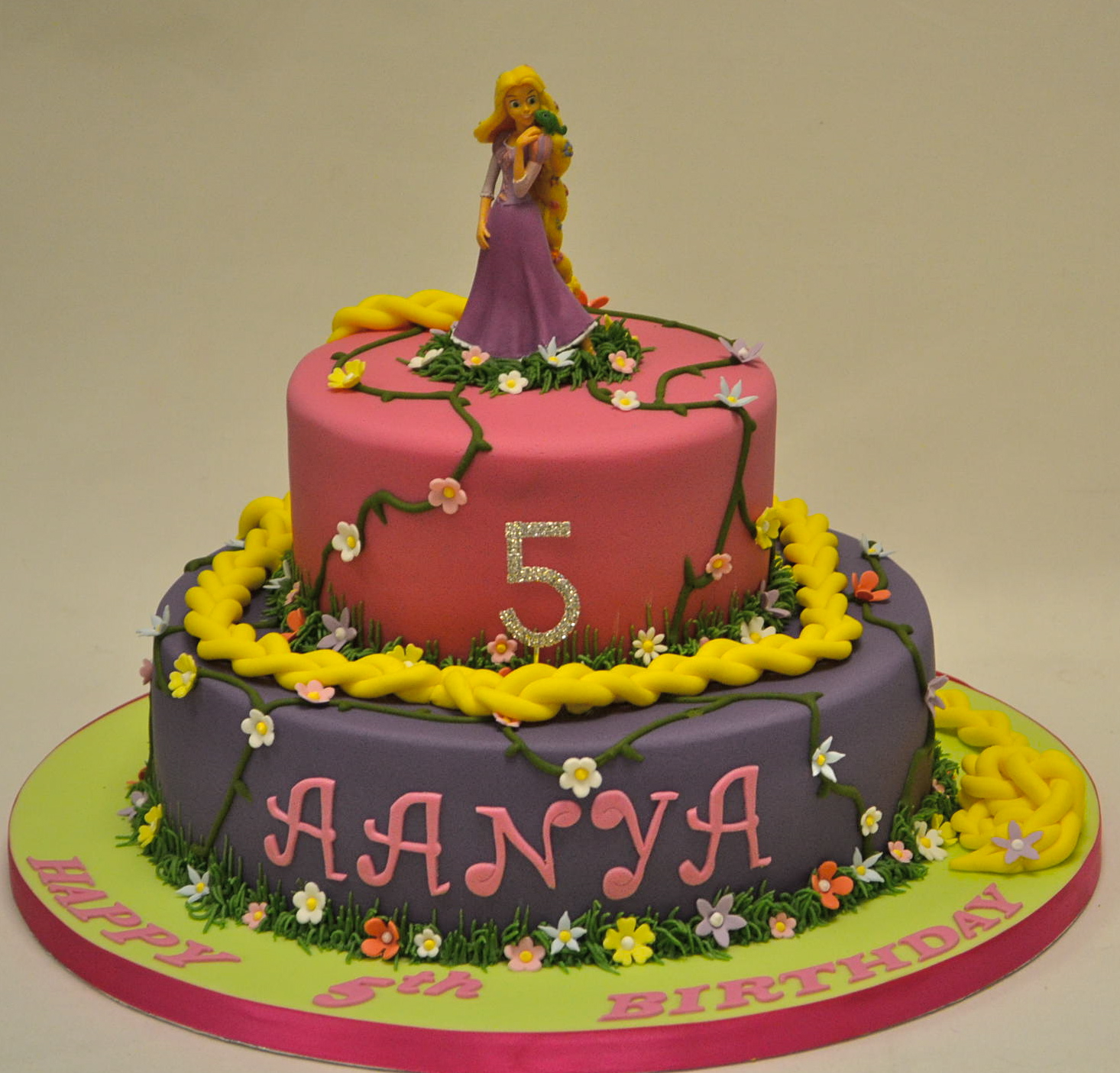 Rapunzel Birthday Cake Two Tier Rapunzel Cake Childrens Birthday Cakes Celebration