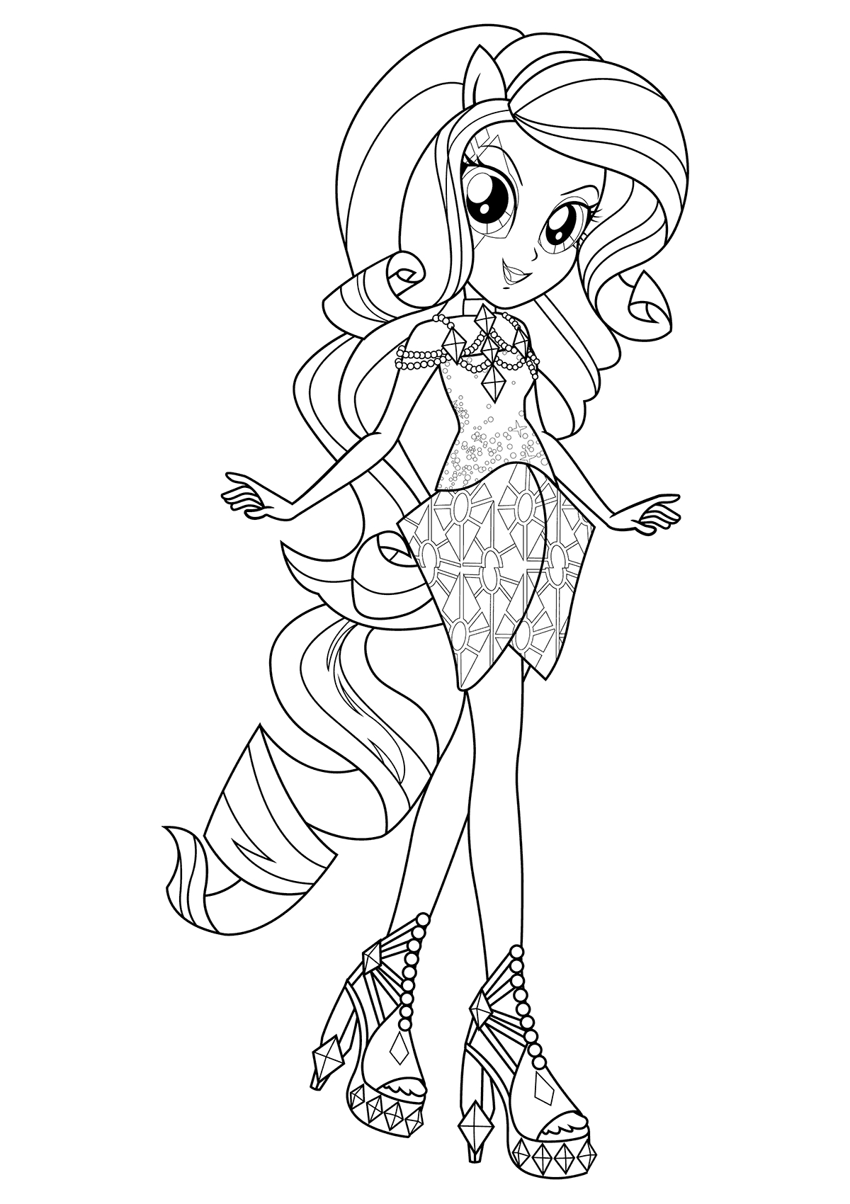 Rarity Coloring Pages My Little Pony Coloring Pages Free Throughout Rarity Monesmapyrene