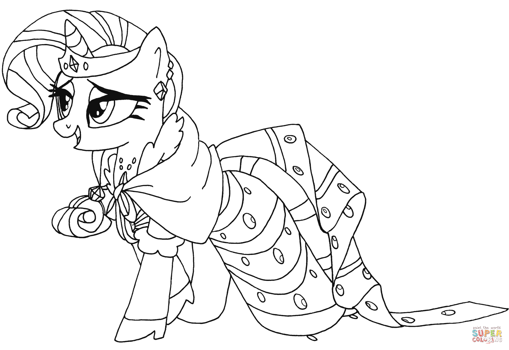 Rarity Coloring Pages My Little Pony Rarity Coloring Page Free Printable Coloring Pages