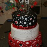 Red Birthday Cake Black White And Red 40th Birthday Cake Cakecentral