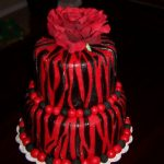 Red Birthday Cake Heather Calvin Cakes Red And Black Zebra Print Birthday Cake
