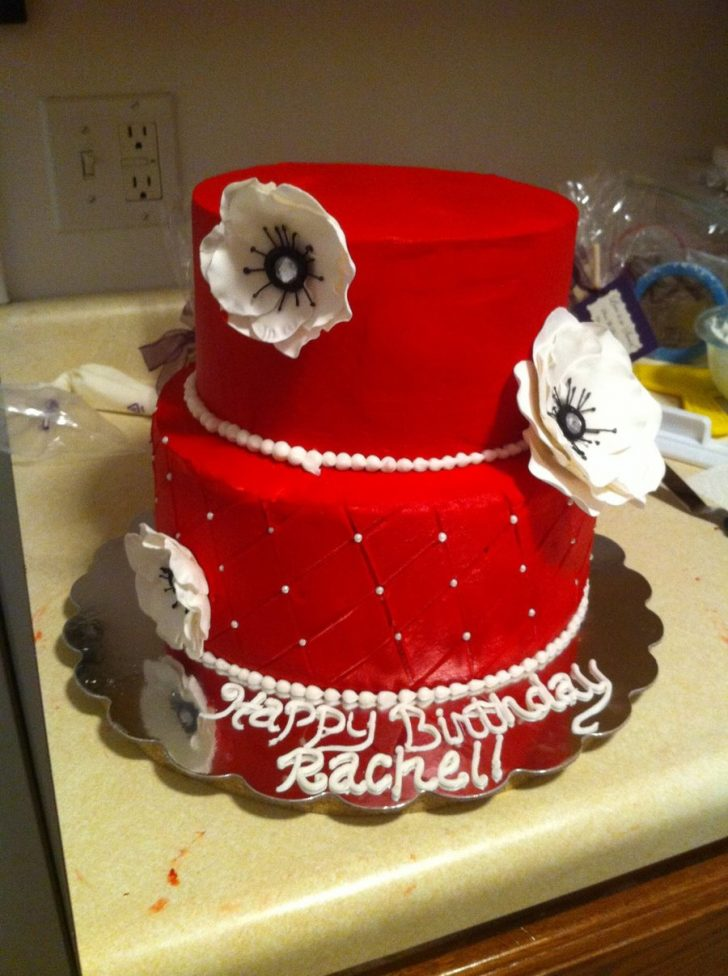 Red Birthday Cake Red And White Birthday Cake Cakecentral