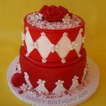Red Birthday Cake Red White Birthday Cake Birthday Girl Amy Saw A Photo Of Flickr