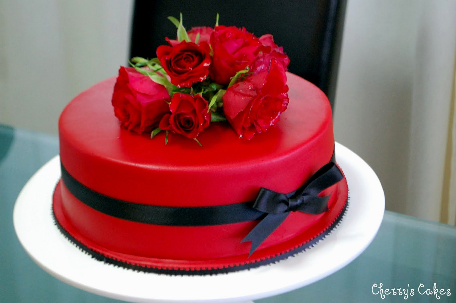 Red Birthday Cake Very Beautiful Cakes With Roses Homemade Party Design