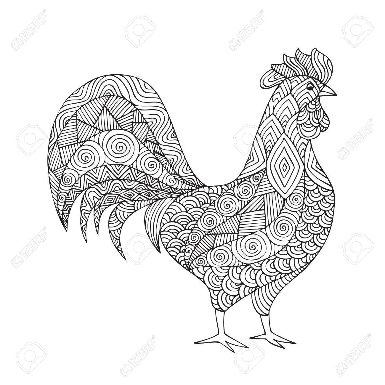 Rooster Coloring Page Awesome Of Year Of The Rooster Coloring Page Stock Printable