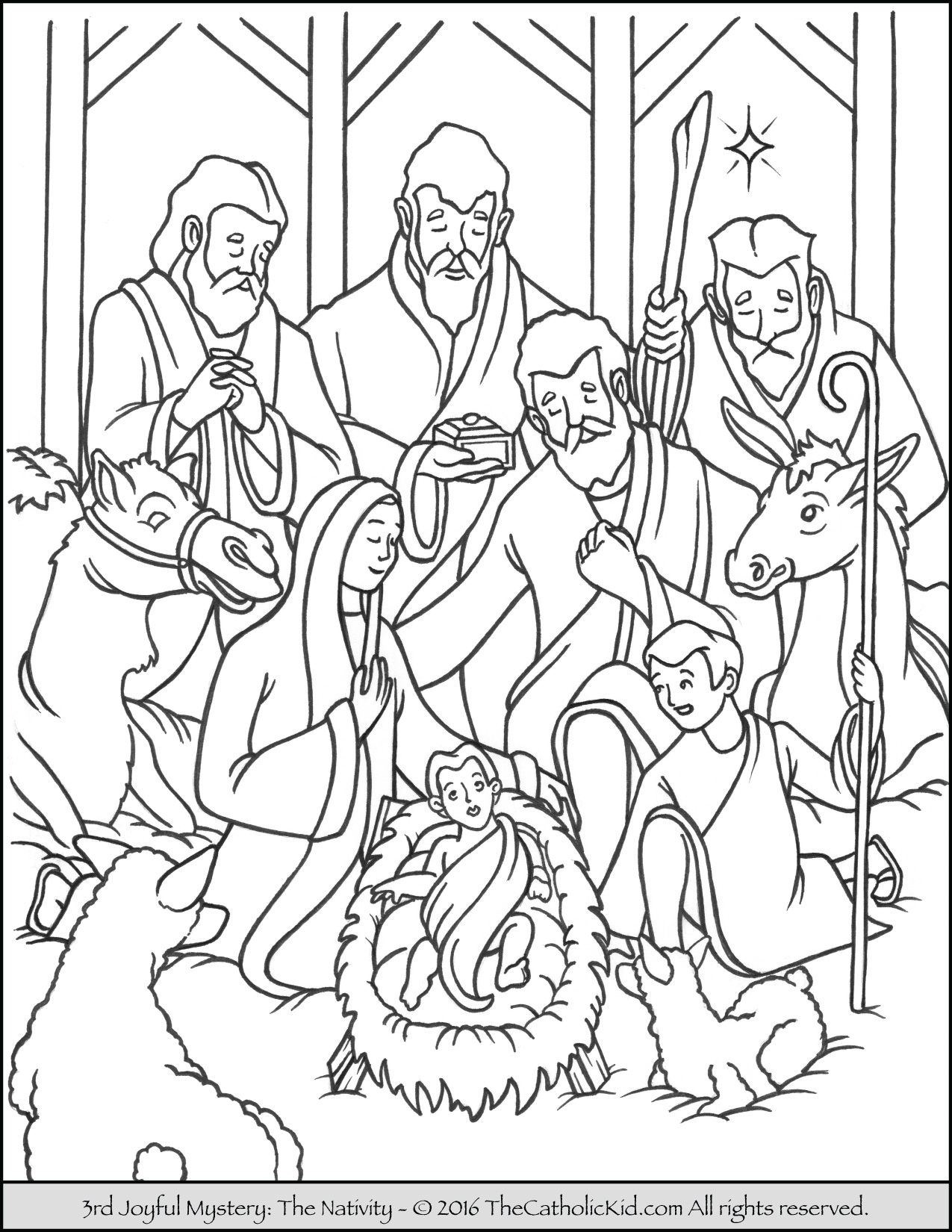 Rosary Coloring Page Mary And Joseph Coloring Pages Joyful Mysteries Rosary Coloring