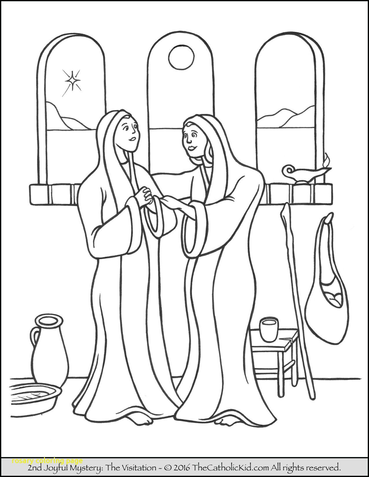Rosary Coloring Page Mysteries Of The Rosary Coloring Pages Color Bros