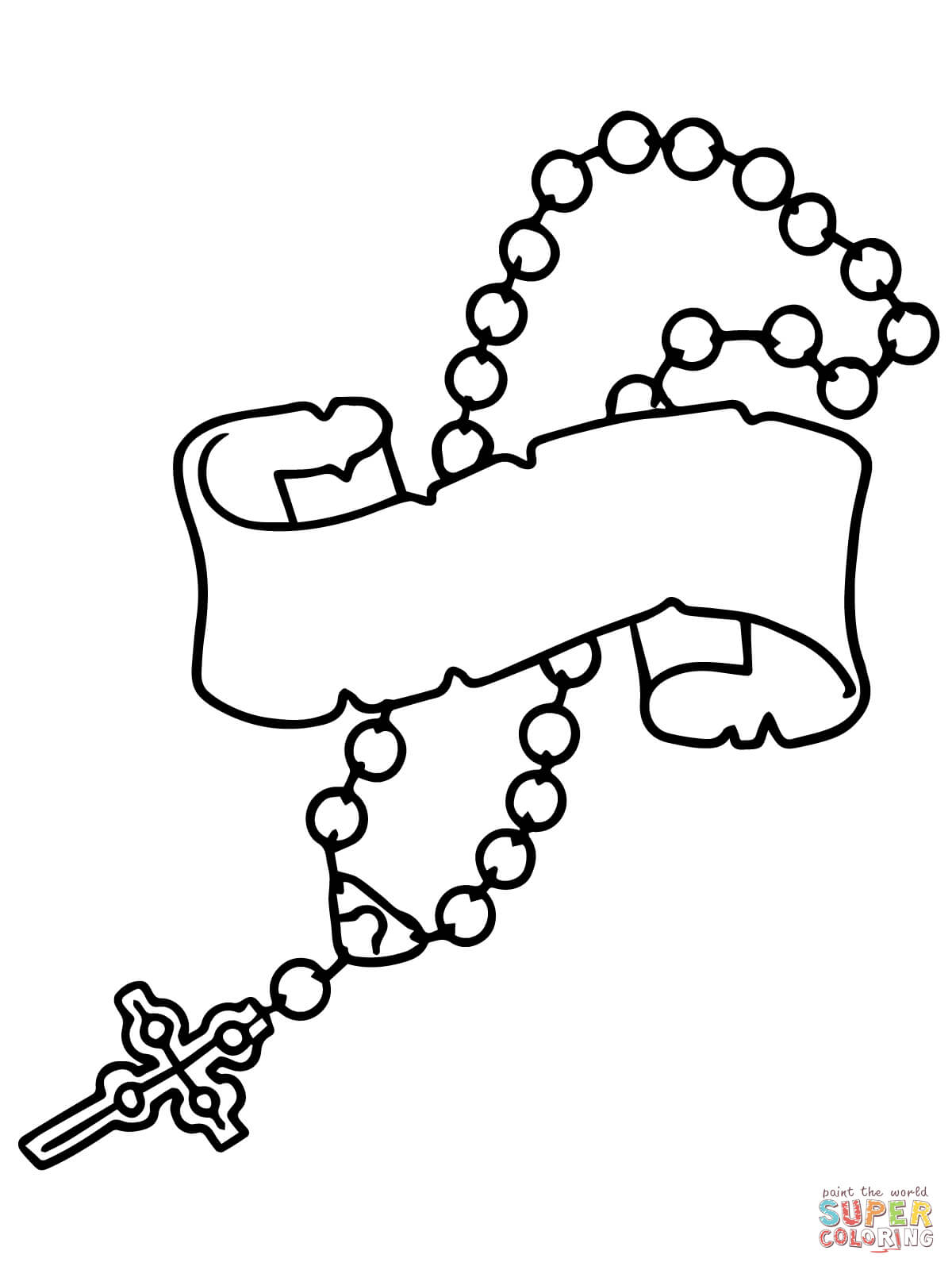Rosary Coloring Page Rosary Beads Coloring Page Free Printable Coloring Pages