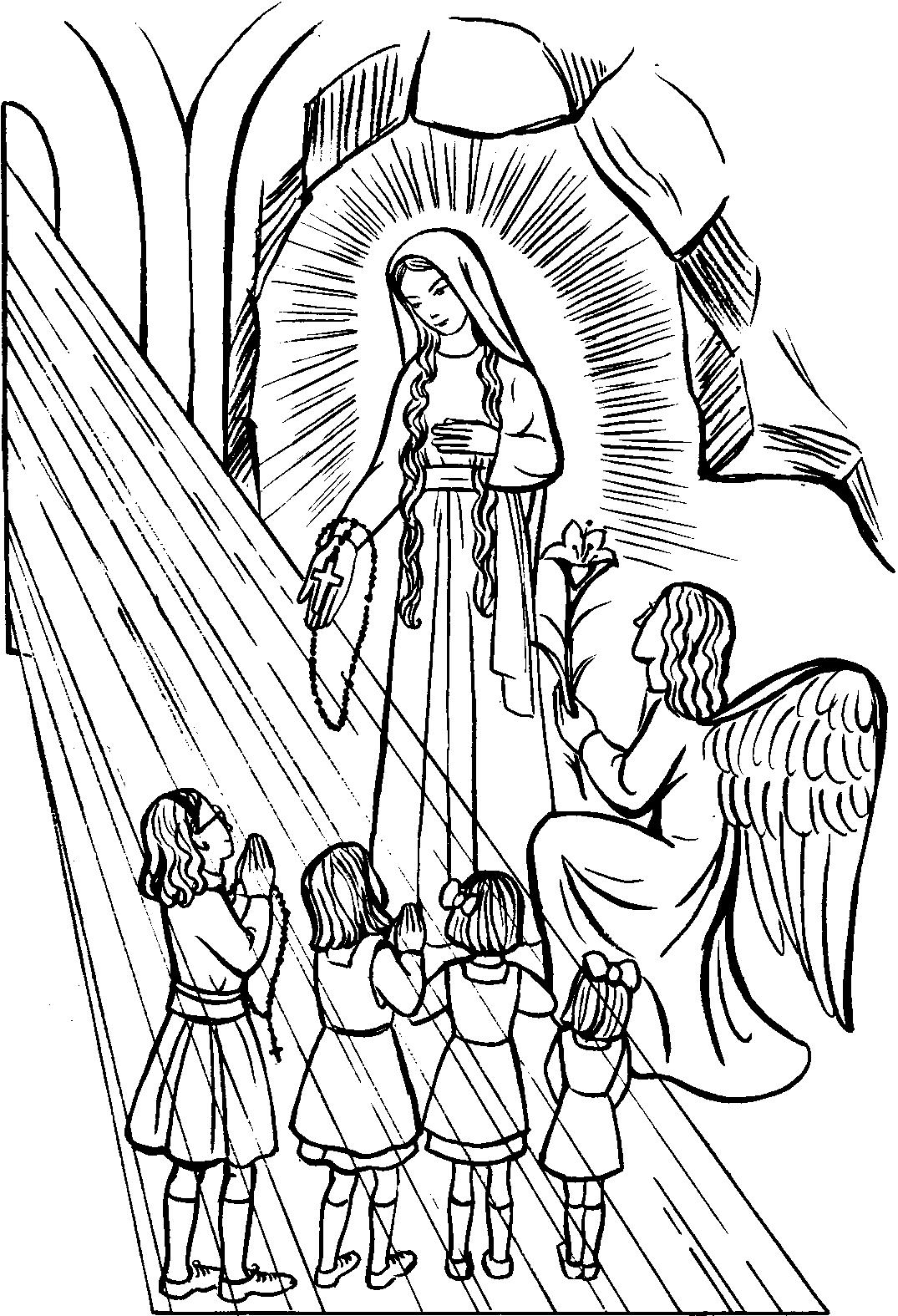 Rosary Coloring Page Rosary Drawing Pictures At Getdrawings Free For Personal Use