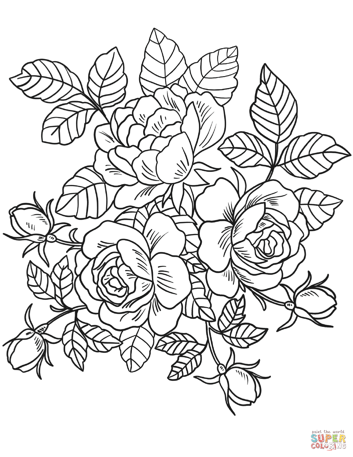30+ Exclusive Picture of Rose Coloring Pages