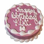 Round Birthday Cakes Barkery 6 Round Pink Cake The Barkery Birthday Cakes For Dogs