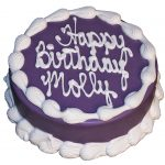Round Birthday Cakes Barkery 6 Round Purple Cake The Barkery Birthday Cakes For Dogs