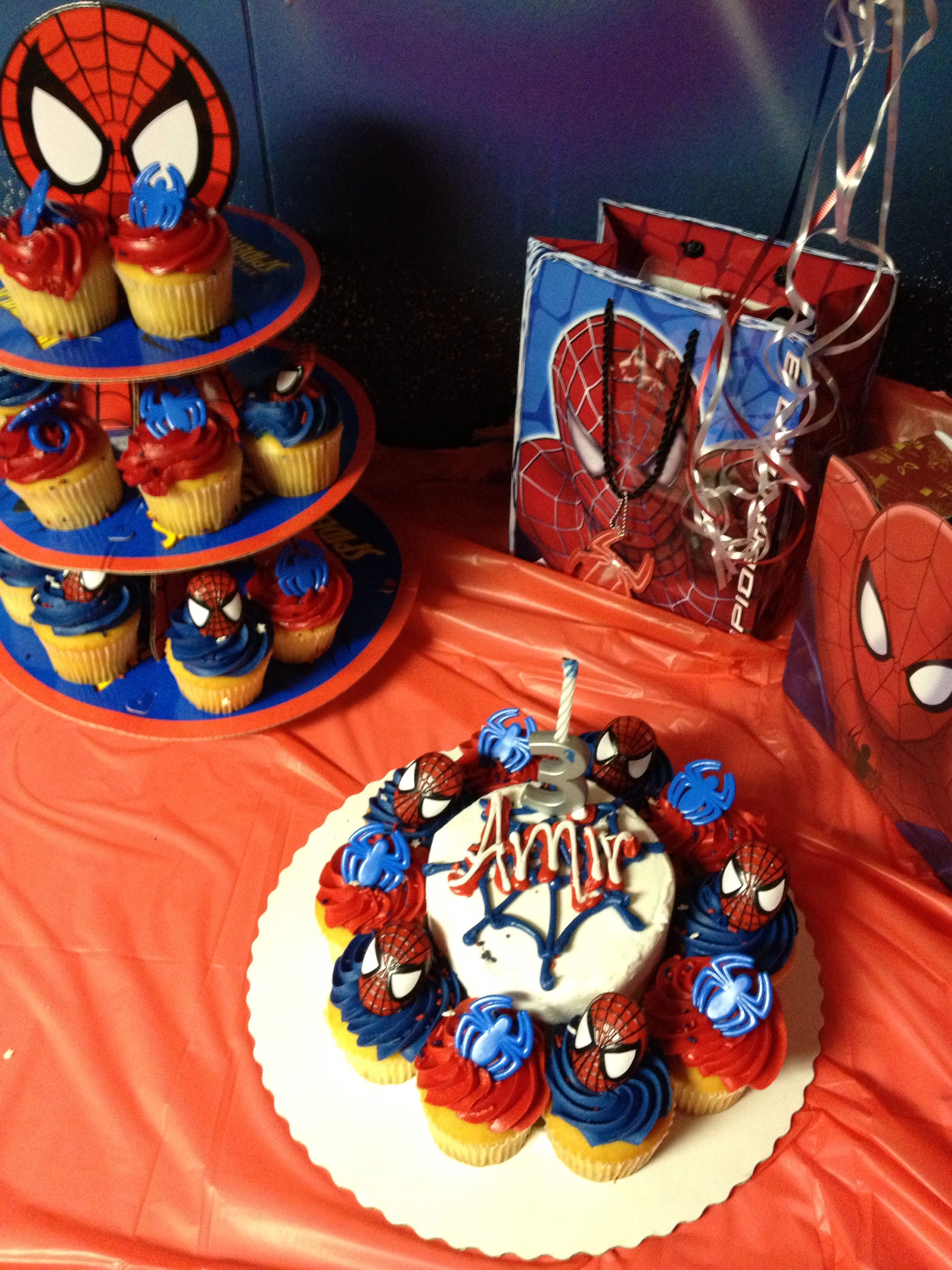 Sams Club Birthday Cake Spiderman Cake And Cupcake From Sams Clubonly 26 Total30