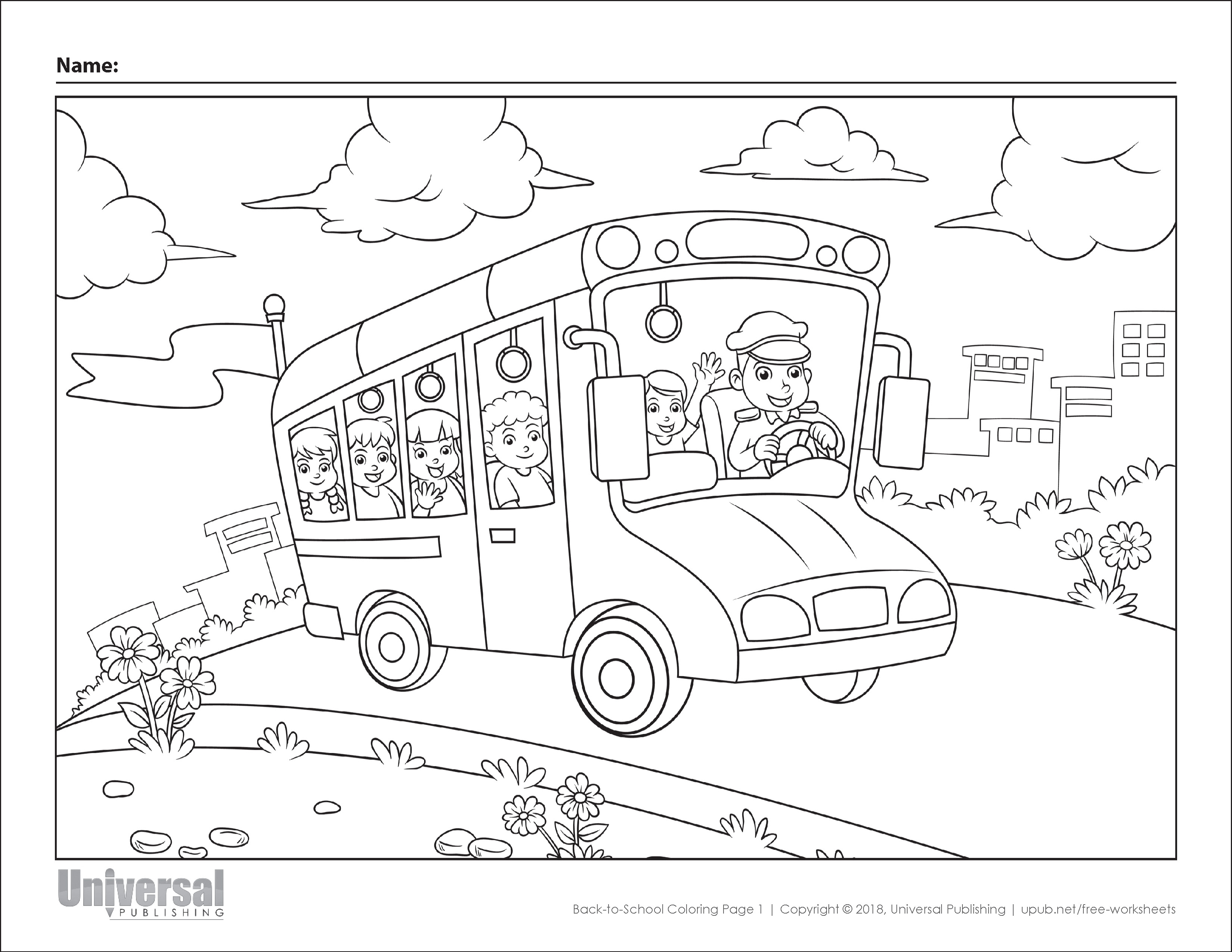 School Coloring Pages Back To School Coloring Pages Free Printables Universal Publishing