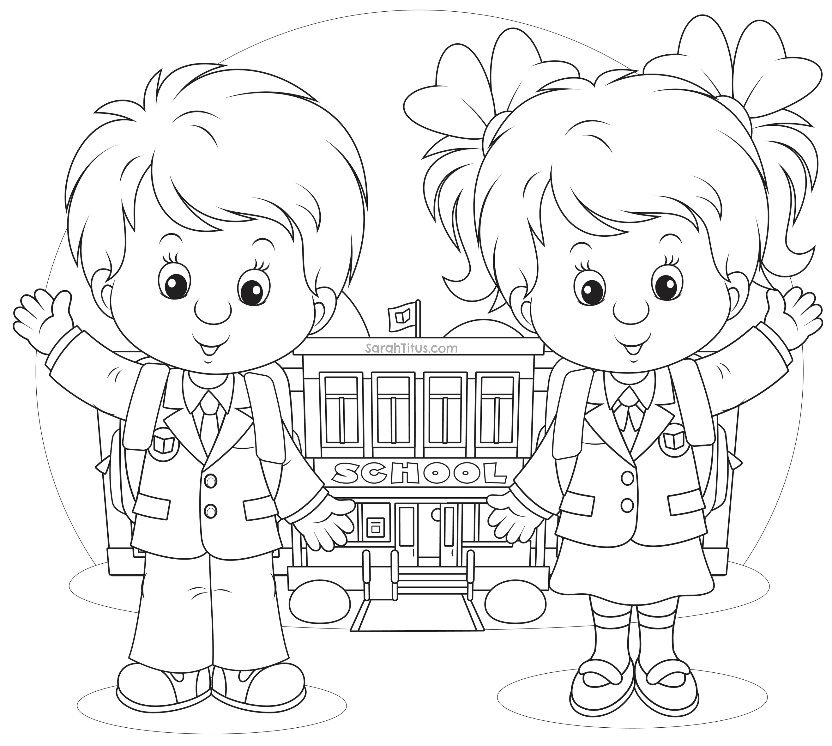 School Coloring Pages Colouring Pages Of School Csengerilaw