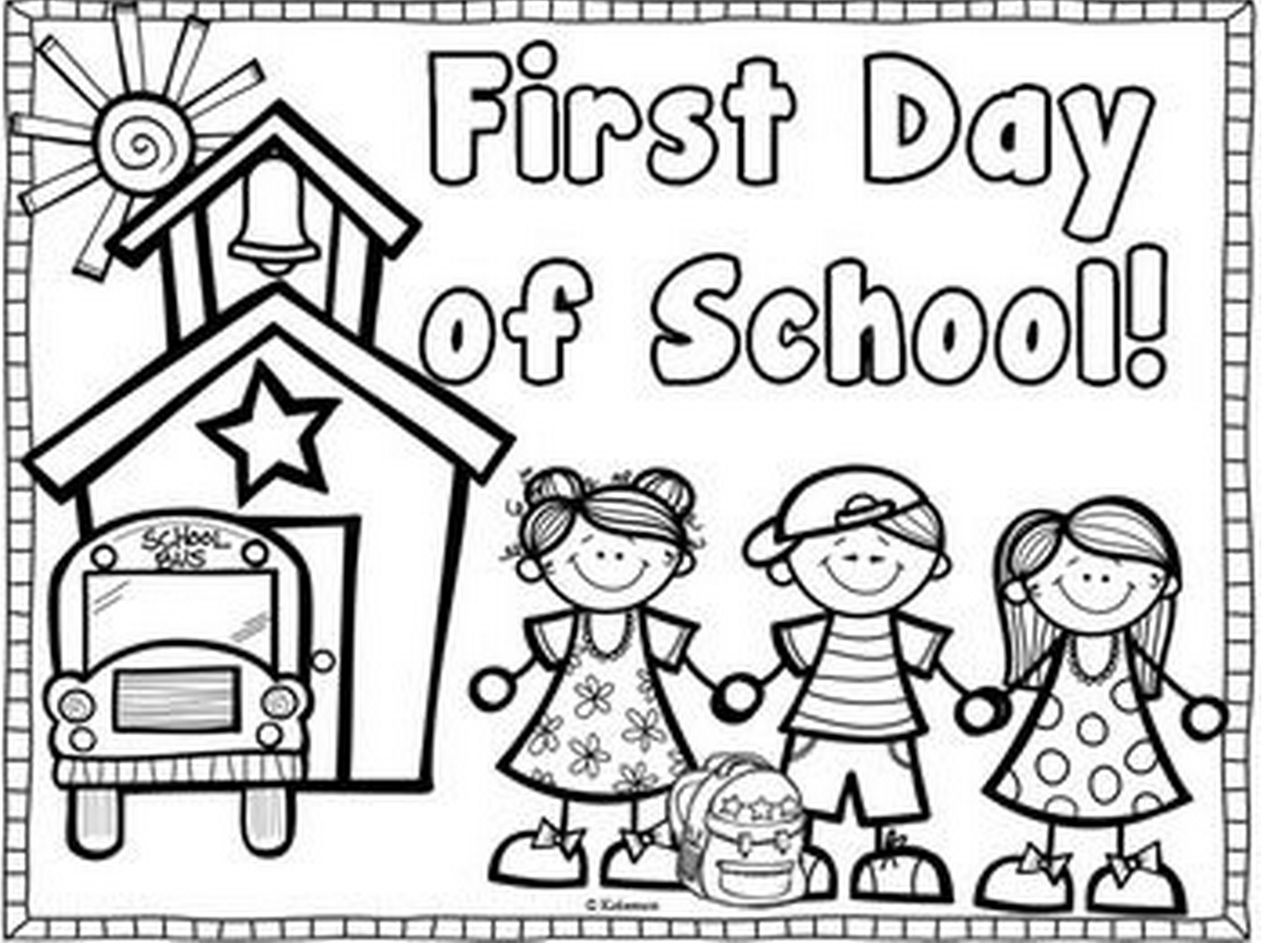 School Coloring Pages First Day Of School Coloring Page Coloring Page Book