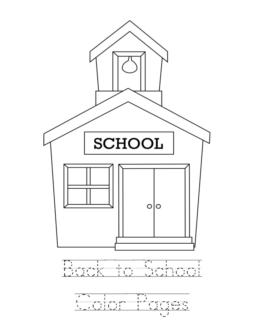 School Coloring Pages Kid Color Pages Back To School