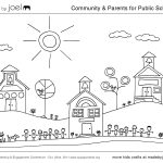School Coloring Pages Made Joel Community Parents For Public Schools Coloring Sheet