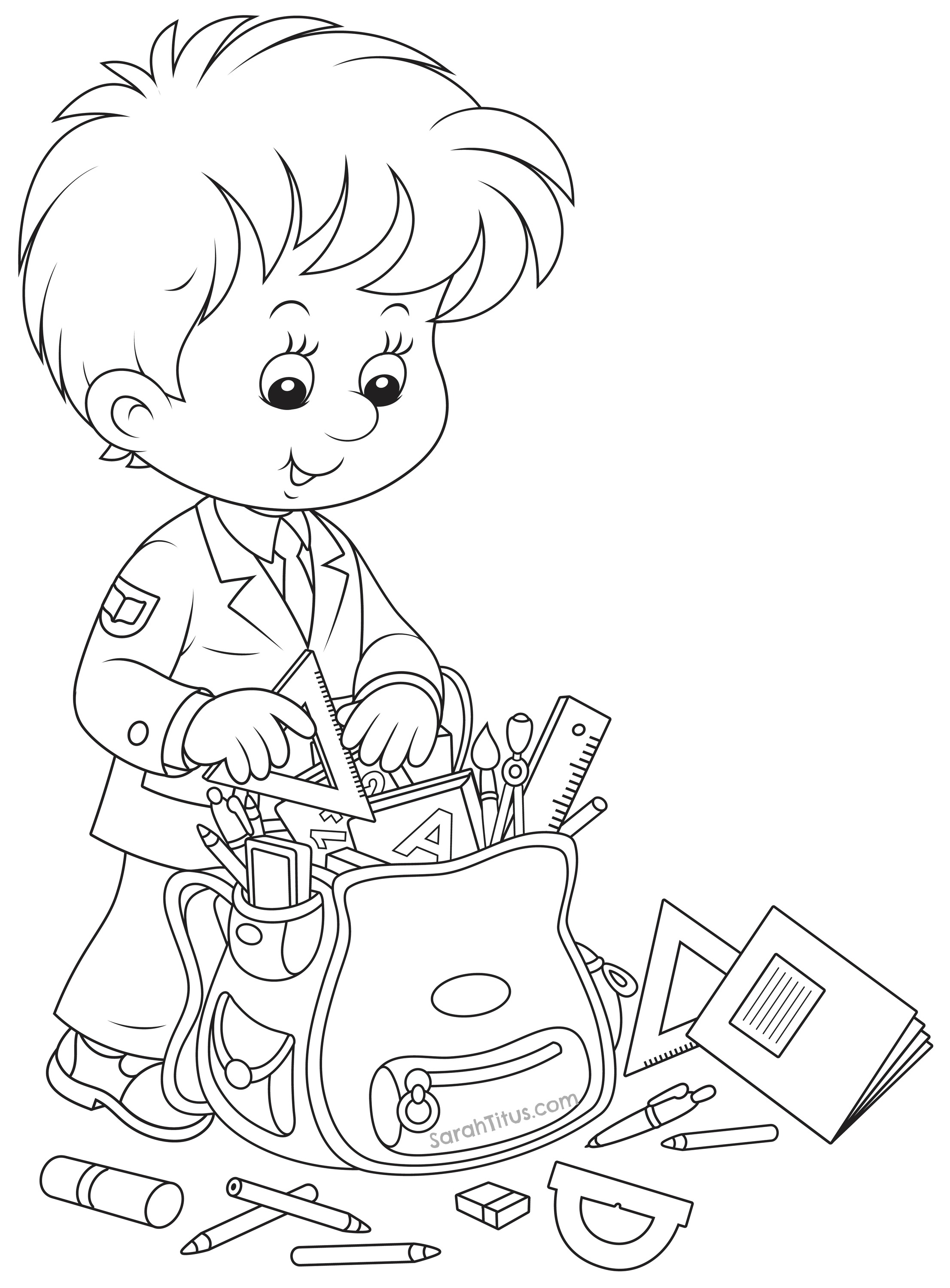 School Coloring Pages Printable Back To School Coloring Pages Sarah Titus Free Book And