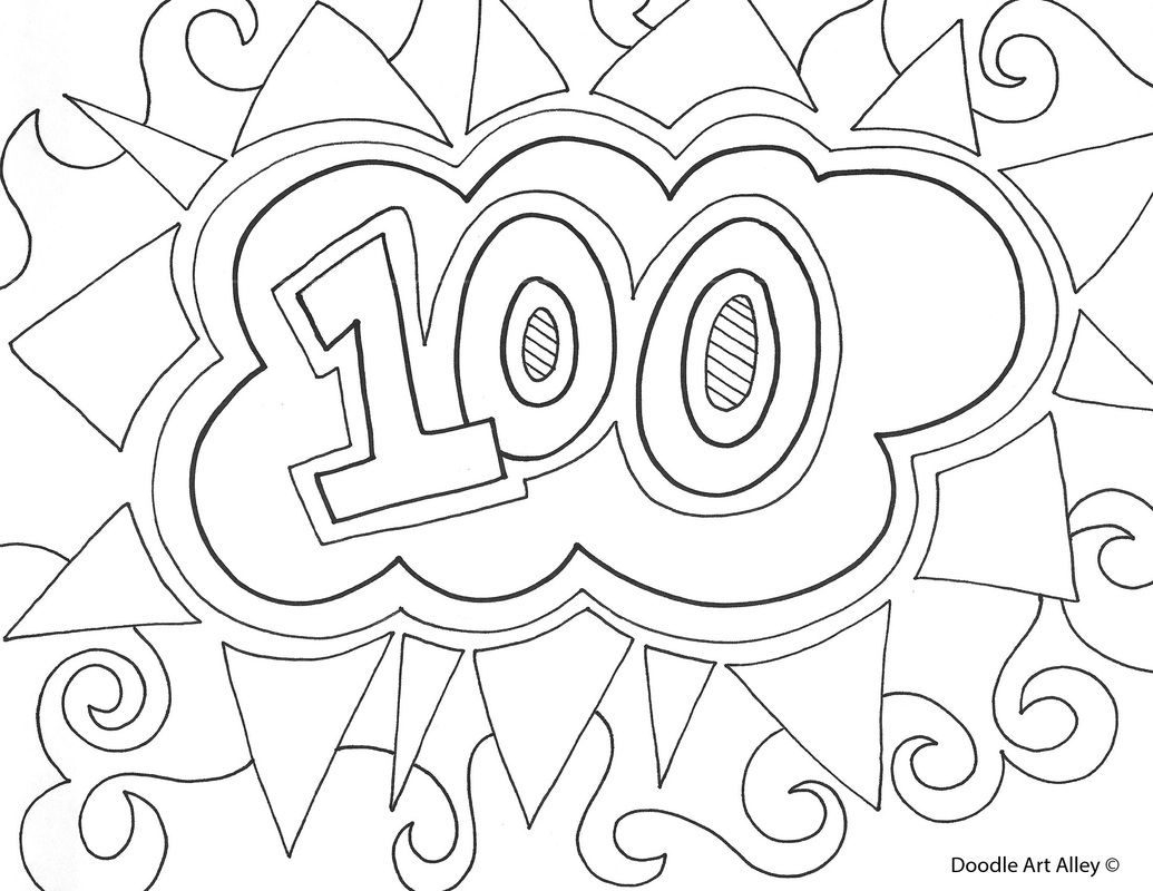 School Coloring Pages Sensational Days Of School Colouring0th Day Coloring Pages