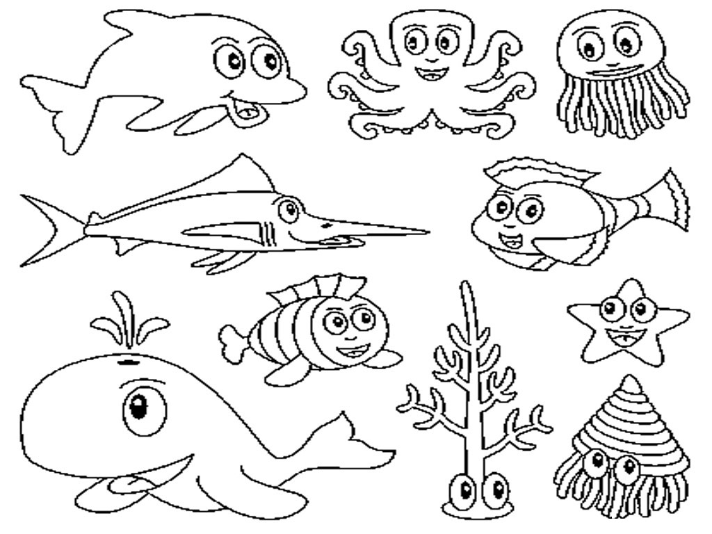 Exclusive Photo of Sea Creatures Coloring Pages