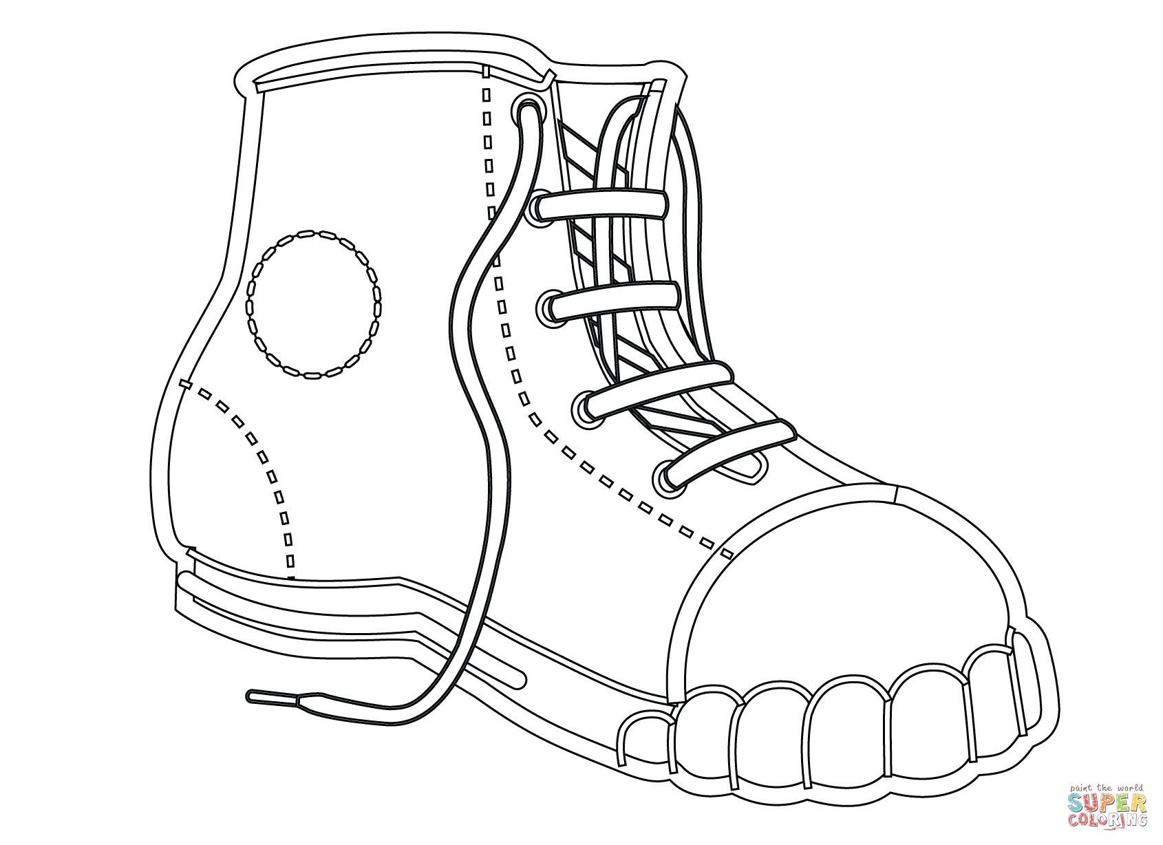 27+ Creative Picture of Shoes Coloring Pages