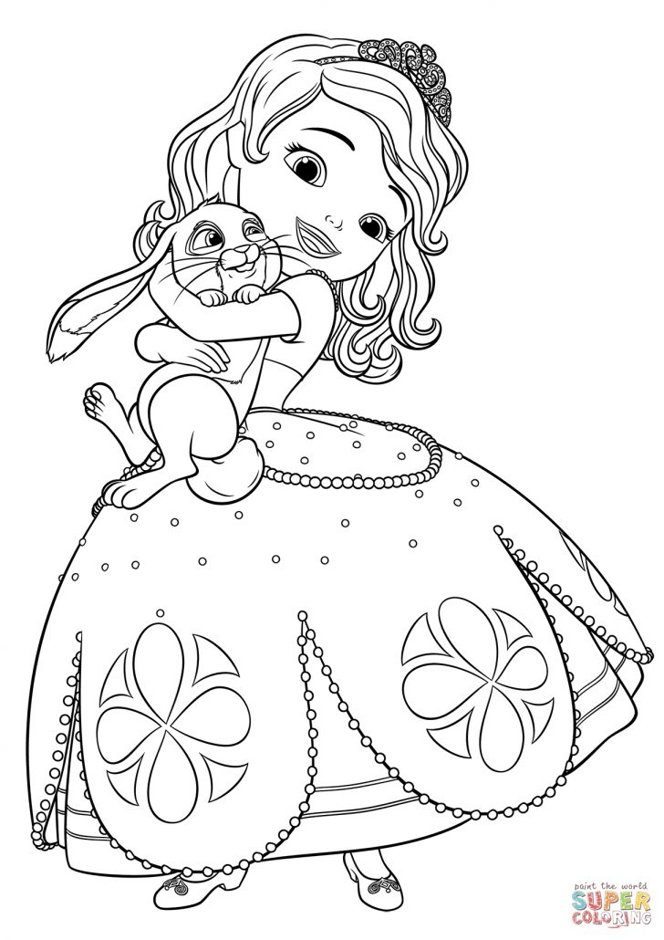 Sofia The First Coloring Page Sofia And Clover Coloring Page Free Printable Coloring Pages