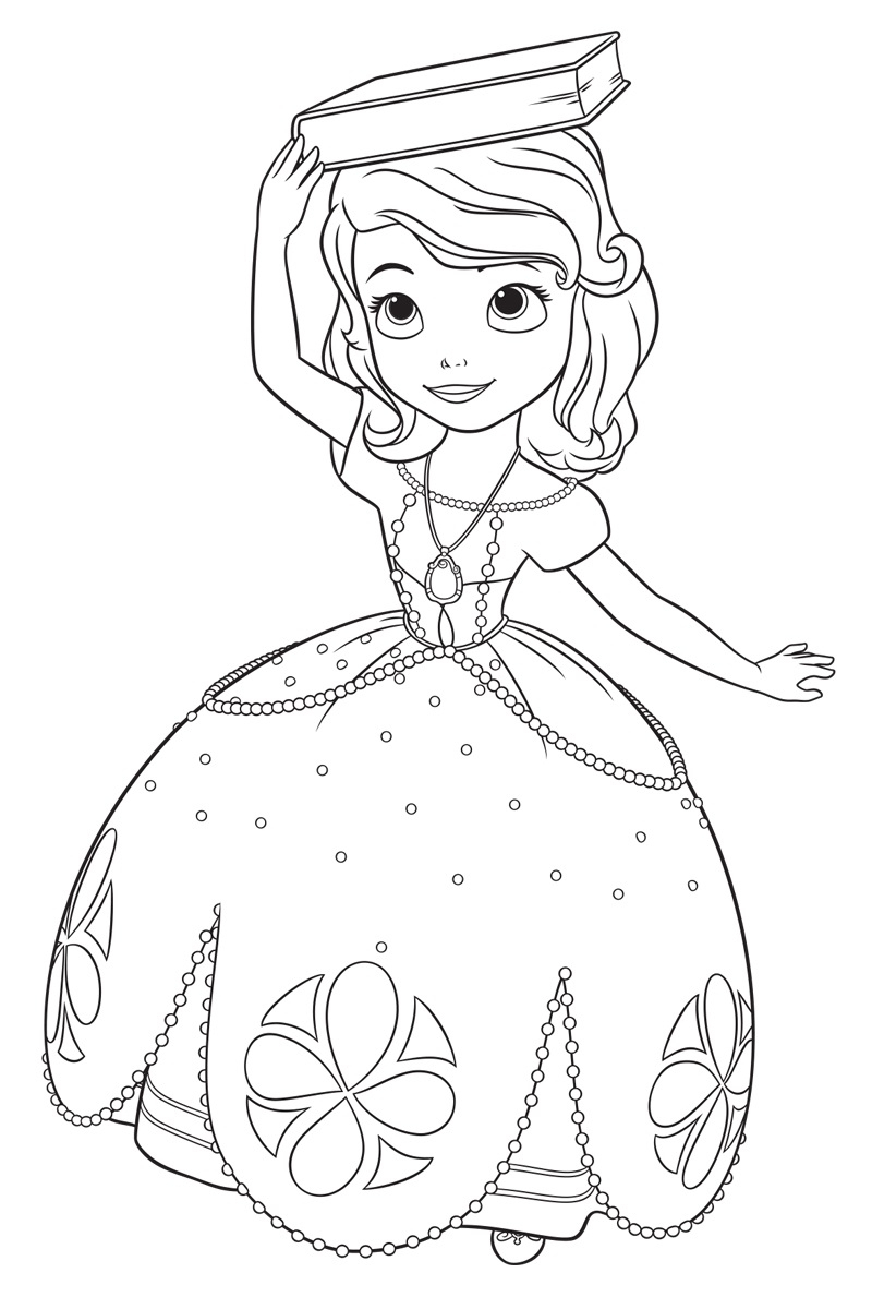 Sofia The First Coloring Page Sofia The First Coloring Page Sofia The First Coloring Pages For