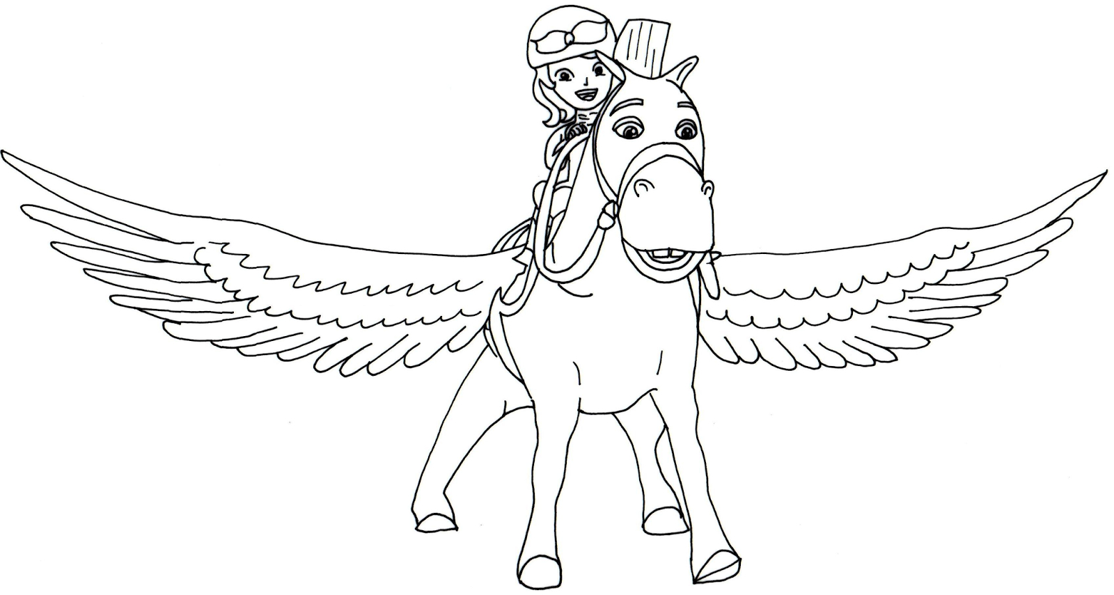 Sofia The First Coloring Page Sofia The First Coloring Pages Minimus Flying Sofia The First 16769