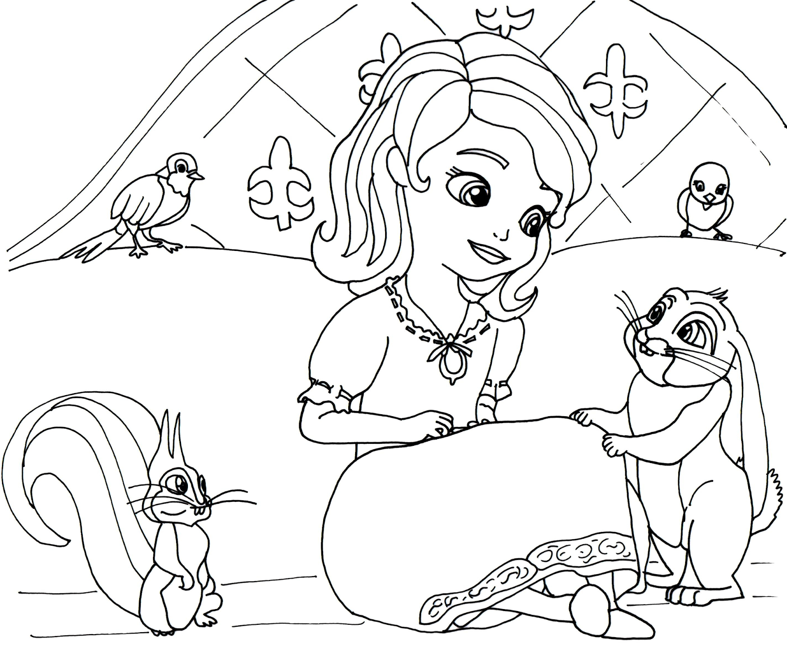 Sofia The First Coloring Page Sofia The First Printables Wwwilleurimage