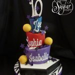 Softball Birthday Cakes Softball Birthday Cake For Triplets Letters And Numbers We Flickr