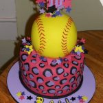 Softball Birthday Cakes Softball Birthday Cake Softball Cakes Pinte