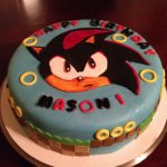 Sonic Birthday Cake Shadow From Sonic The Hedgehog Cake Cakes Pinterest Hedgehog