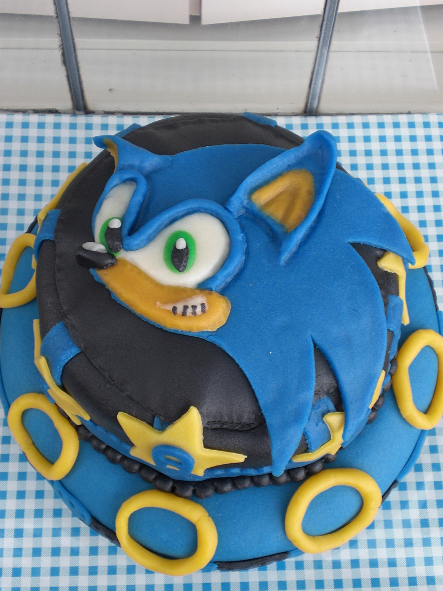 Sonic Birthday Cake Sonic Birthday Cake For 7 Year Old Cakecentral