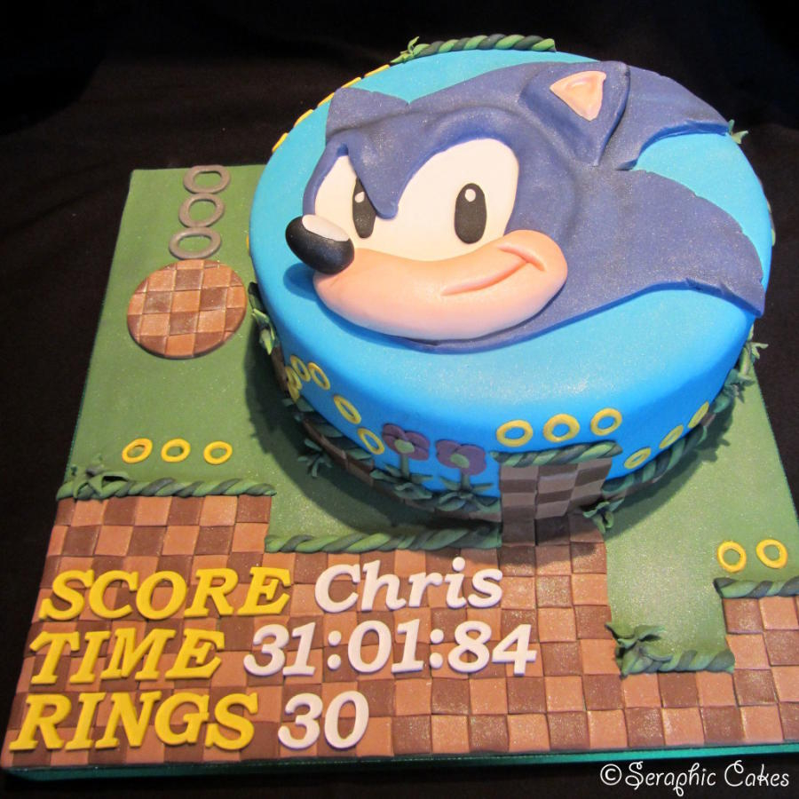 Sonic Birthday Cake Sonic Hedgehog 75 Cakes Cakesdecor
