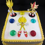 Sonic Birthday Cake Super Sonic Theme Cake Airbrushed Sonic Jsweetstreatsvpweb Or