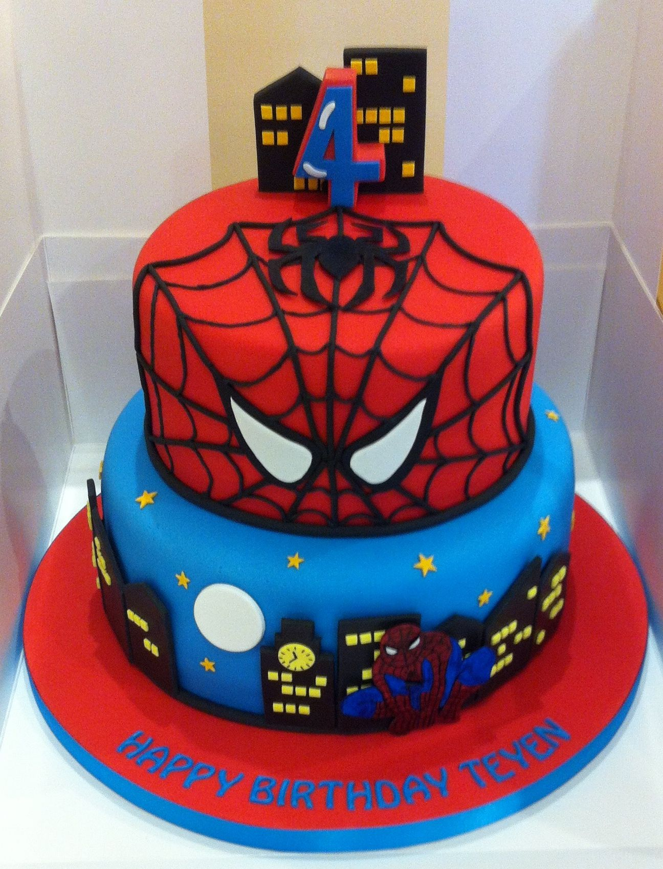 30 Inspired Picture of Spiderman Birthday Cake