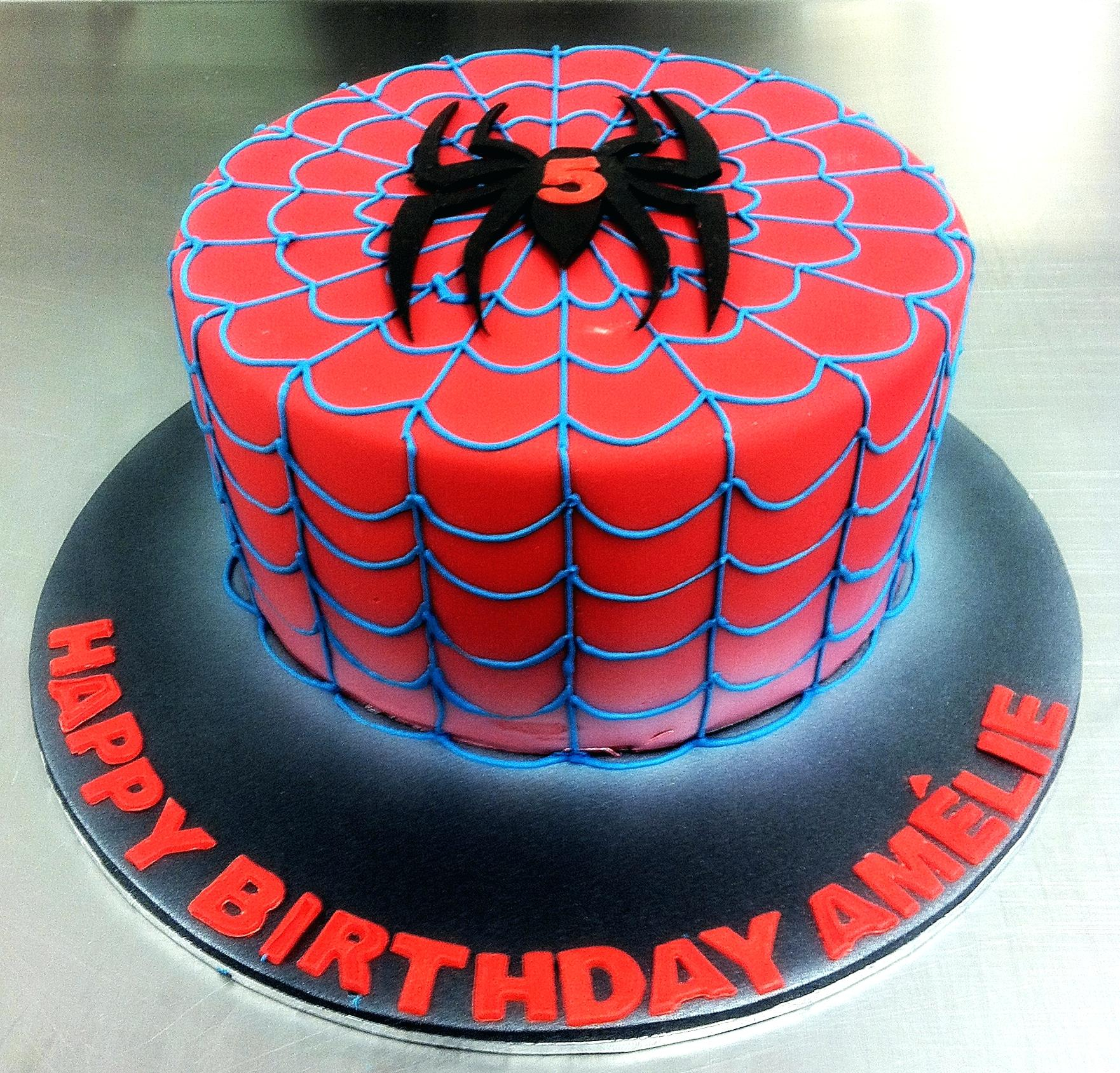 1762 X 1688 In 30 Inspired Picture Of Spiderman Birthday Cake