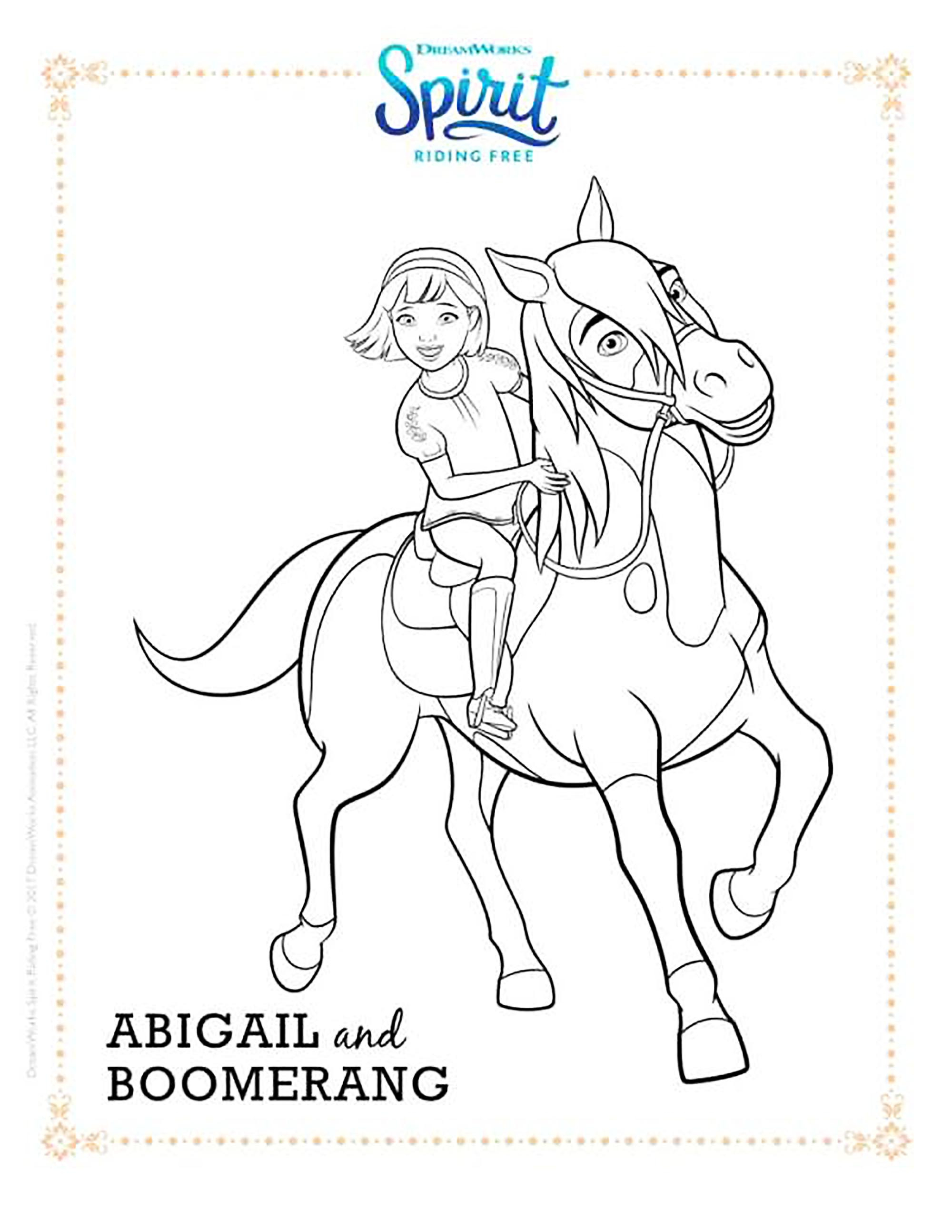 Great Image of Spirit Coloring Pages