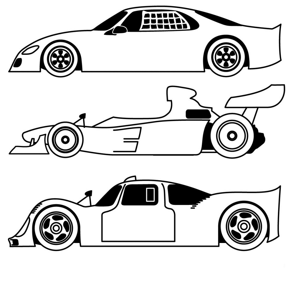 Sports Car Coloring Pages Sports Car Coloring Pages Free For Kids Classic Black And White