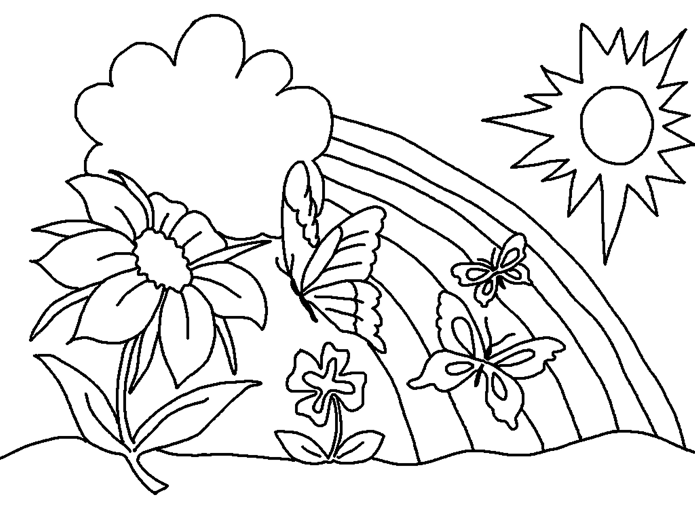 Spring Flowers Coloring Pages Free Printable Flower Coloring Pages For Kids Best Coloring Pages