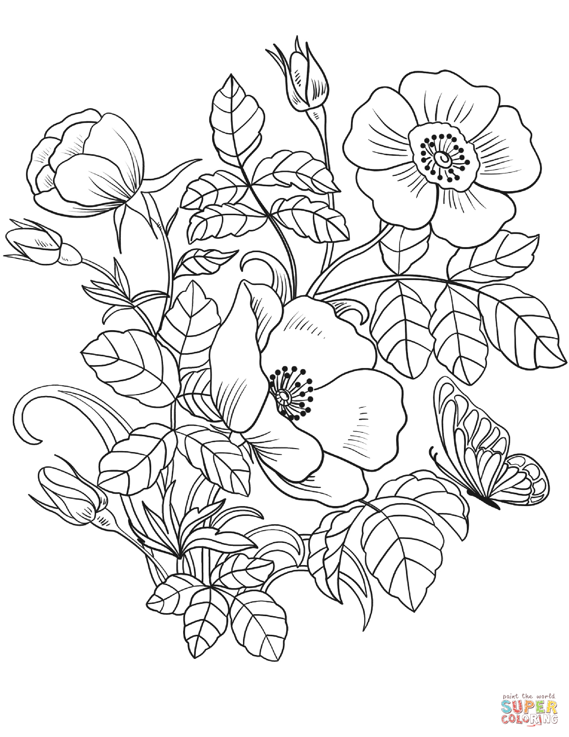 25+ Creative Photo of Spring Flowers Coloring Pages