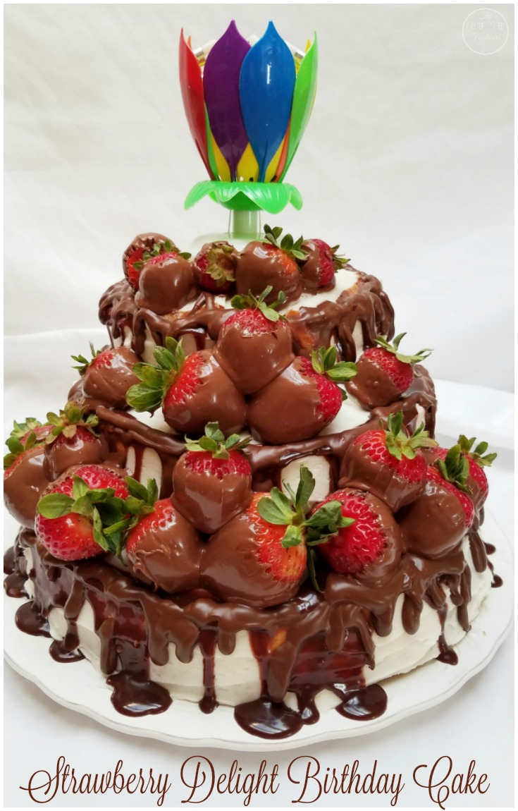34+ Marvelous Picture of Strawberry Birthday Cakes