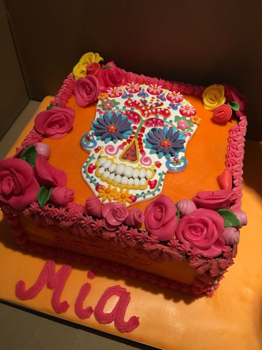 32+ Best Photo of Sugar Skull Birthday Cake