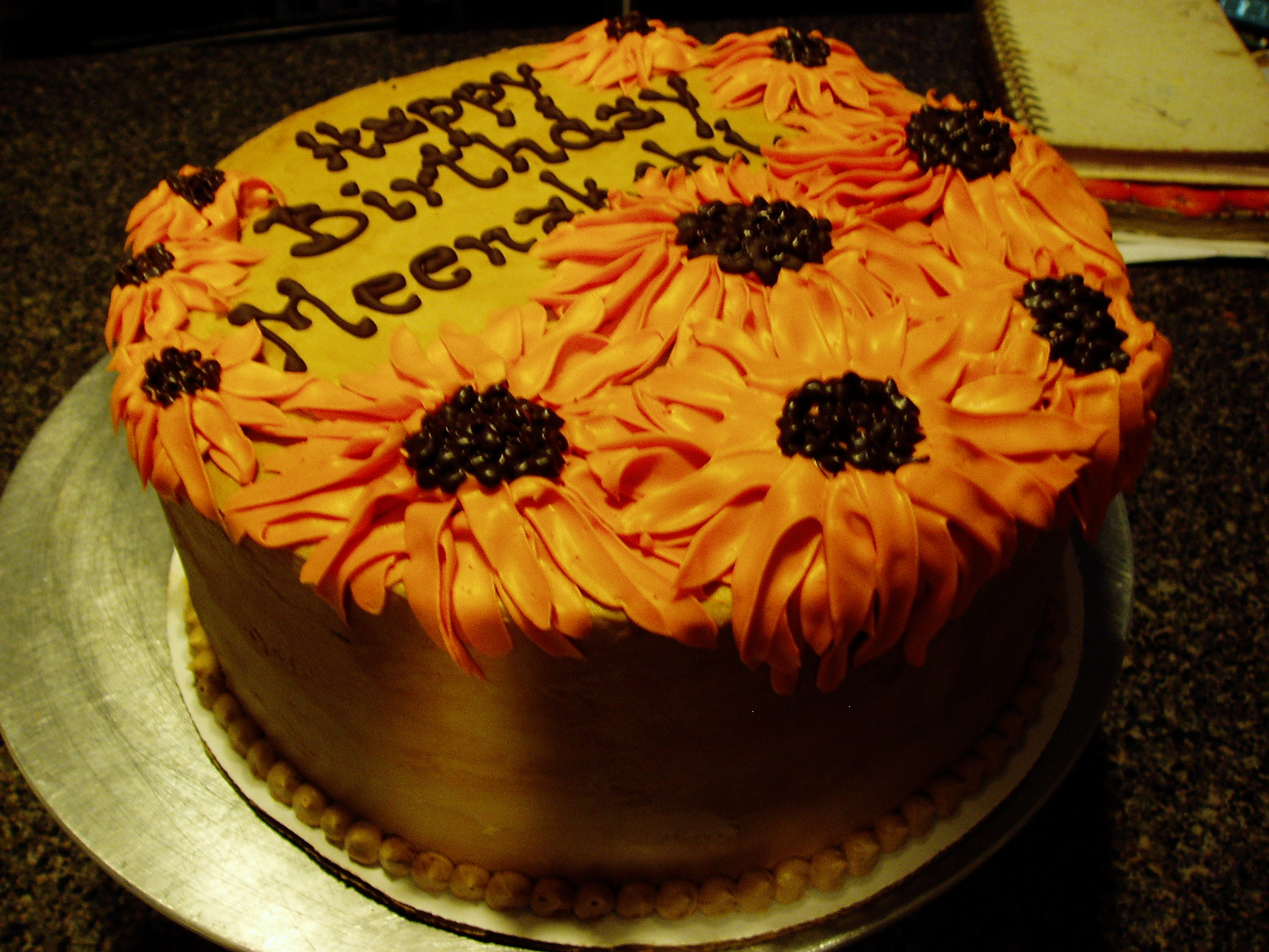 Sunflower Birthday Cake Sunflower Birthday Cake Cakes Pastry Shop Cocoa Bakery Cafe