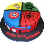 Superhero Birthday Cake All In One Superheroes Cake