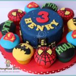 Superhero Birthday Cake Big Cake Little Cakes Marvel Superhero Birthday Cake Marvel