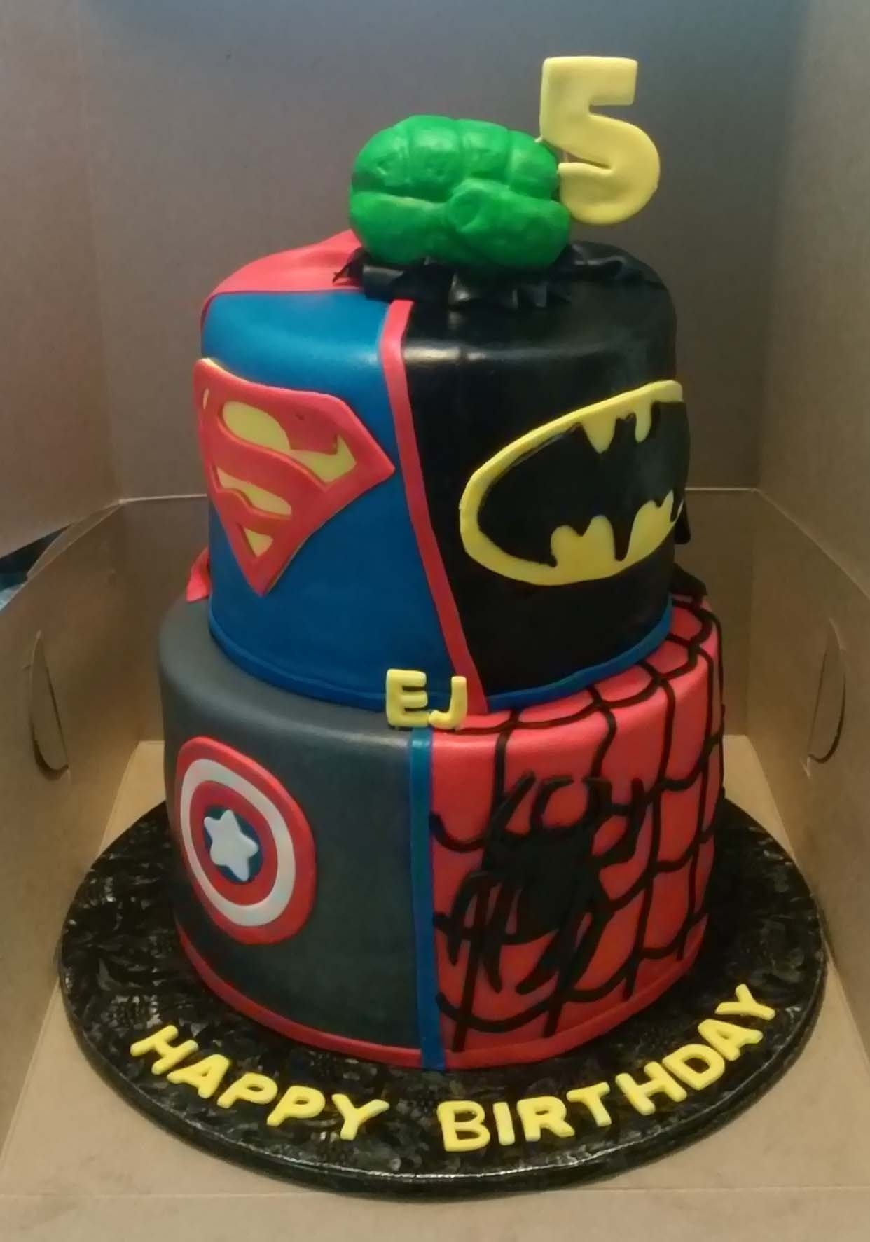 1242 X 1773 In 30 Best Picture Of Superhero Birthday Cake