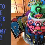 Superhero Birthday Cake How To Make A Superhero Birthday Cake Youtube