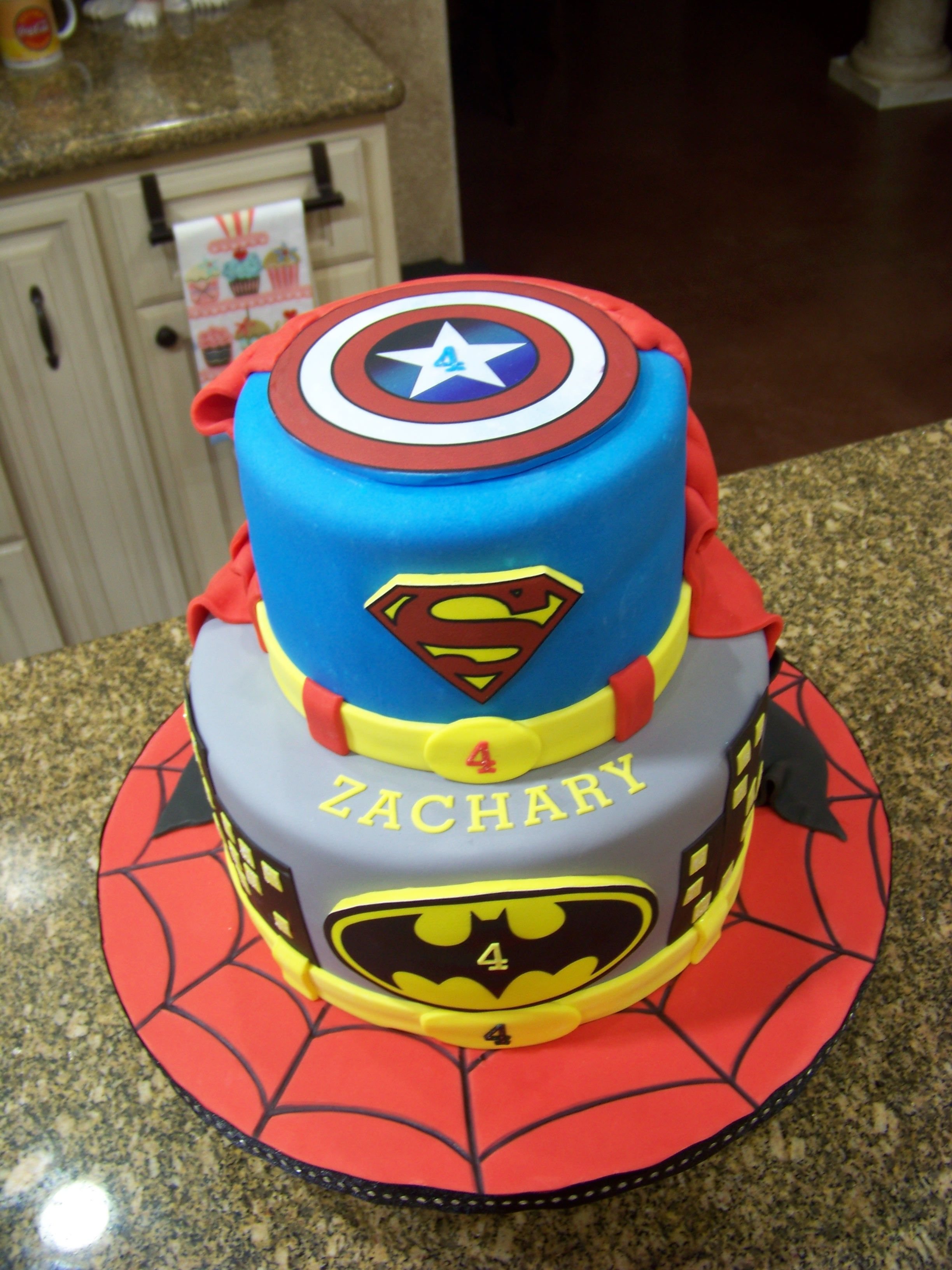 30 Best Picture of Superhero Birthday Cake